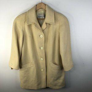 Vintage Eastex Wool Overcoat Top Coat Cream Womens Medium